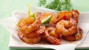 Crevettes caramélisées, recette antillaise