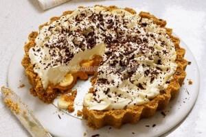 Tarte banane caramel appelée aussi « Banoffee pie »