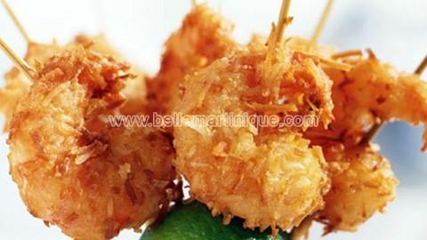 Crevettes-a-la-noix-de-coco-recette antillaise