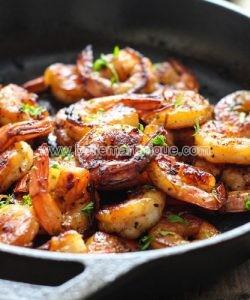 Crevettes au miel et à l'ail, recette créole