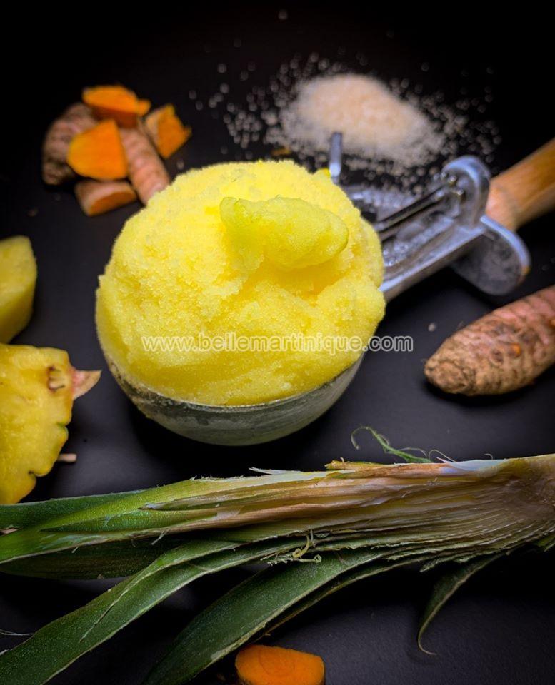 sorbet-ananas-curcuma-recette-dessert-creole-martinique-chef-nathanael-ducteil