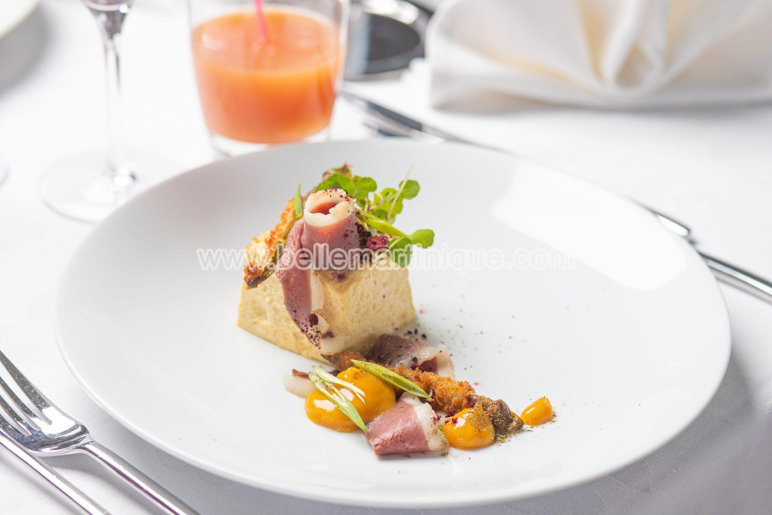 royale-de-giraumon-magret-de-canard-boucané-recette-chef-ruddy-nonone-martinique